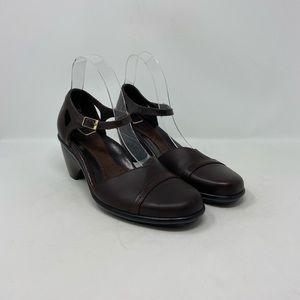 Dansko Brown Leather Mary Jane Comfort Mule EU 38